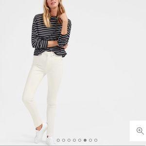 The High-Rise Skinny Jean – Bone White